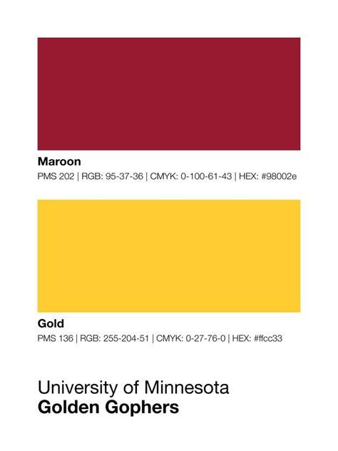 of minnesota colors minnesota golden gophers colors print sproutjam