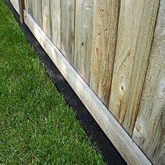 rock border   fence gardening