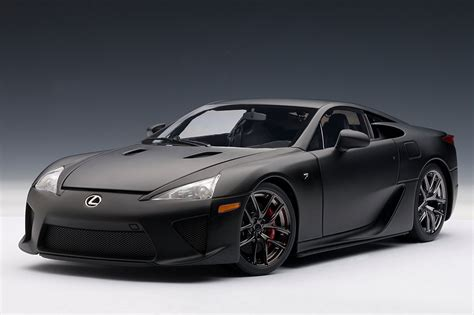 black lexus matte black lexus lfa die cast model by autoart lexus