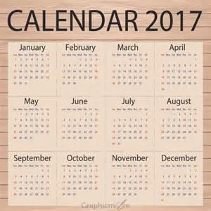 Calendar Template Design by Calendar 2017 Template Design Paper On Wooden Background