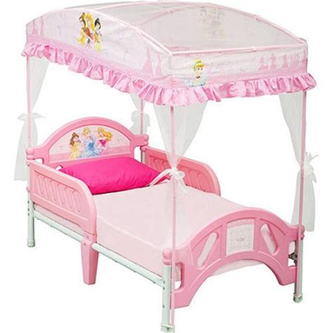 kids princess bed disney princess toddler bed with canopy walmart com