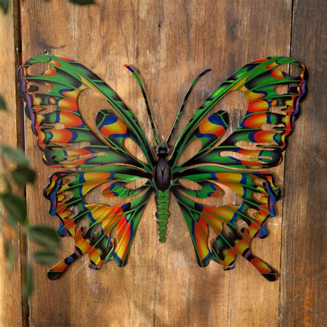metal outdoor wall decor to it 3d butterfly metal outdoor wall 39 99 outdoor living