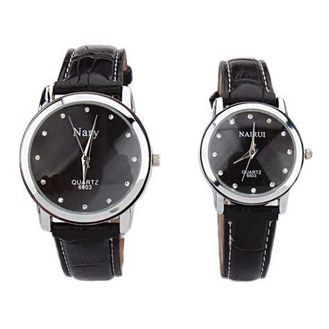Jam Tangan Pria Black nary jam tangan analog pria kulit 6003 black