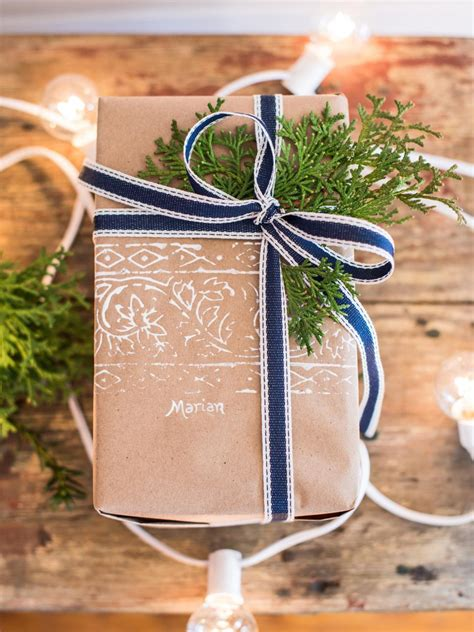 Handmade Wrapping Paper Ideas - 50 gift wrapping ideas hgtv