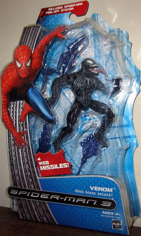 spider 3 figures venom web blast attack spider 3 figure