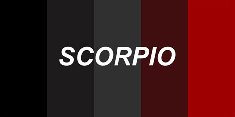 scorpio color astropologie the signs as colour palettes
