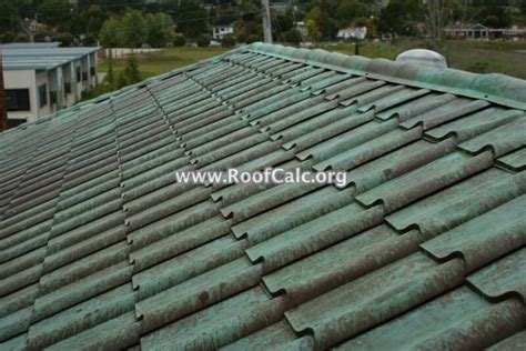 aged copper metal tile roof roofcalcorg