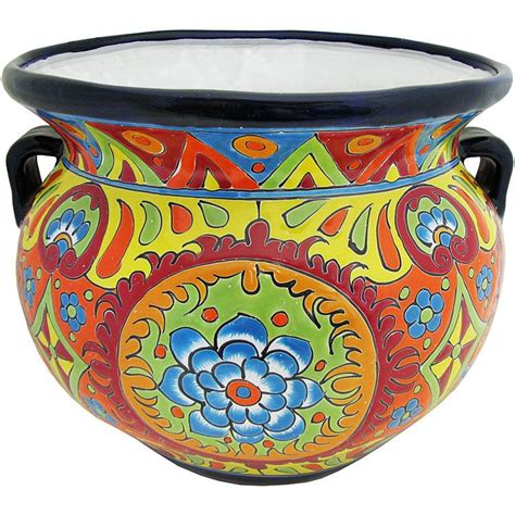 Mexican Planters Large by Talavera Planters Collection Talavera Planter Tp250