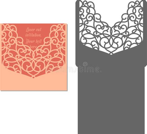 laser cut s day card template laser cut envelope template for invitation wedding card