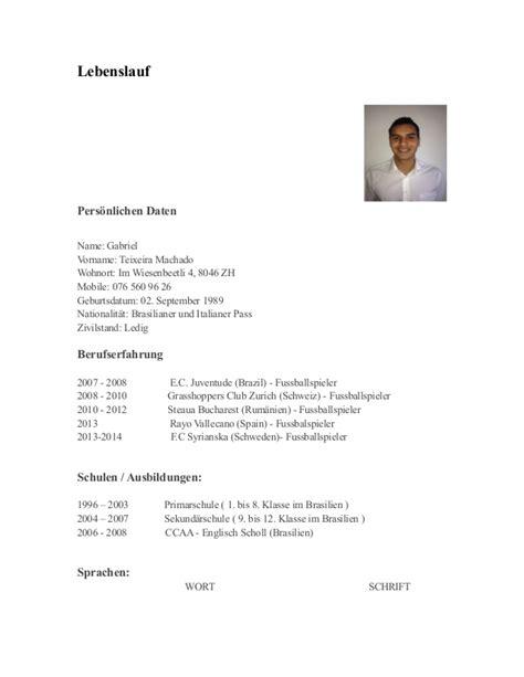 Lebenslauf Schweiz Vorlage Rav Lebenslauf Gm
