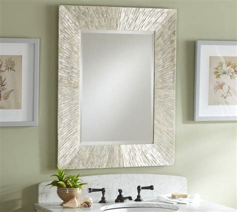 pottery barn bathroom mirrors miranda capiz mirror