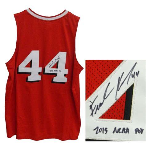 jersey design basketball 2015 red frank kaminsky signed red custom basketball jersey w 2015