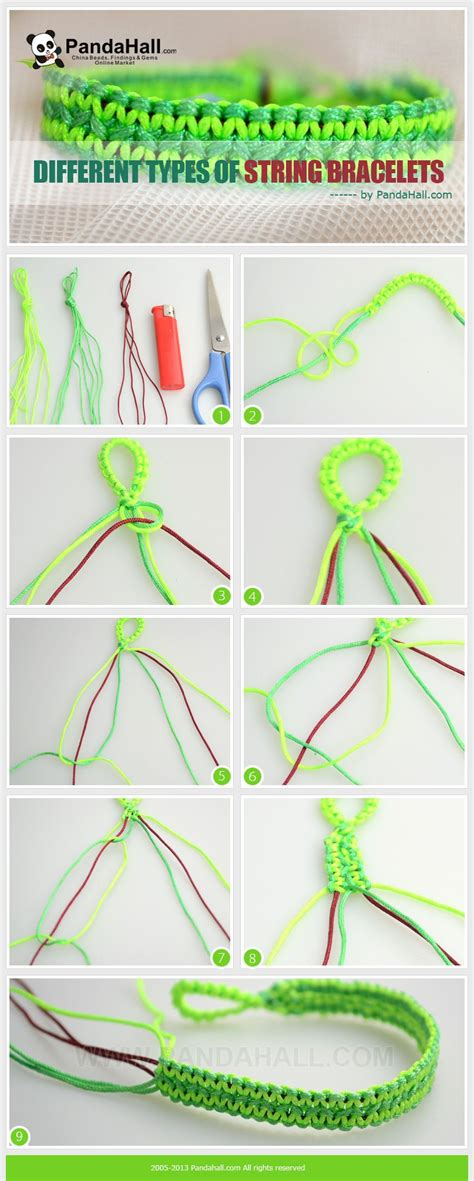 How To Make String Step By Step - different types of string bracelets these