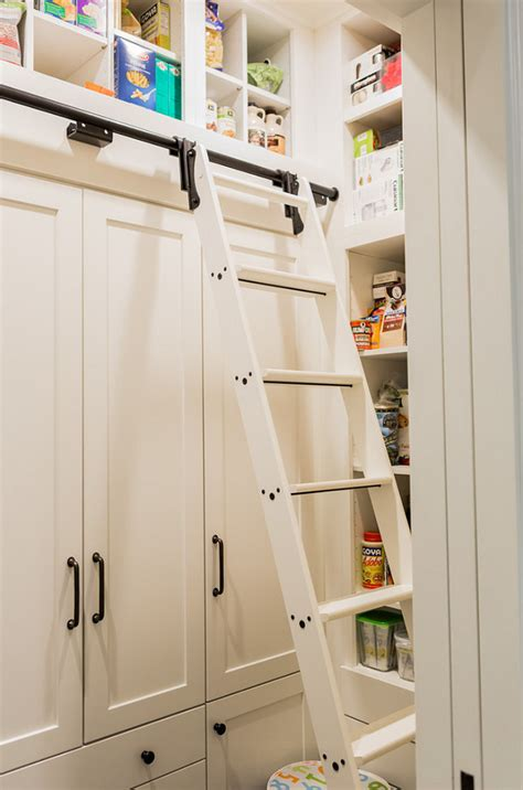 Pantry Ladder by Classic Family Home With Coastal Interiors Home Bunch
