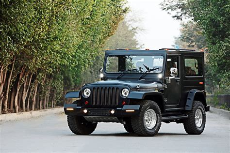mahindra jeep 2016 mahindra thar hipster azad front quarters indian autos blog