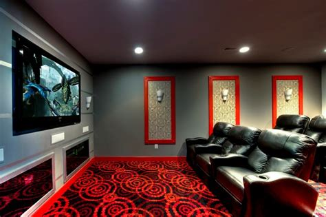 Media Room Carpet by Ruby Dottie Carpet Theater Room Modern Home Theater Other Metro By Beauchain