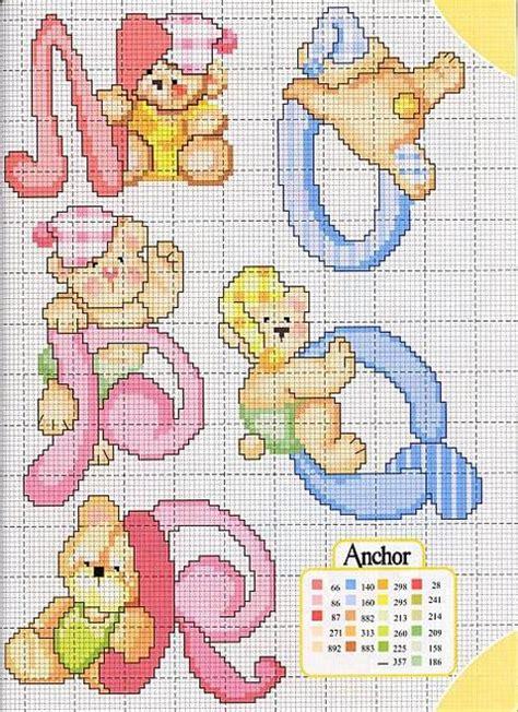 lettere alfabeto punto croce per bambini alfabeto a punto croce con gli orsetti schemi cross