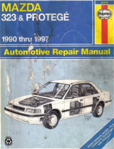 1991 mazda 323 and protege repair shop manual original mazda 323 protege repair manual 1990 1997 haynes