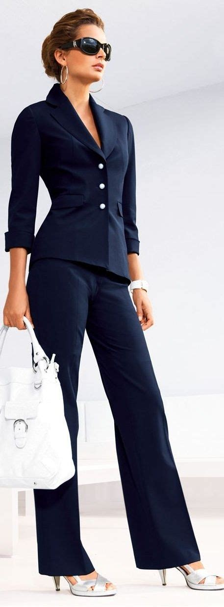 Love the navy suitwork clothing woman fashion fashion clothing blue