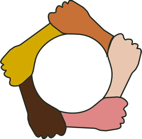 people holding hands in a circle free download clip art