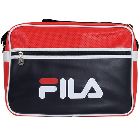 There Were Shoes Now Bags by Fila Docena Messenger Bag L 37x11x27 Umh 228 Ngetasche Retro