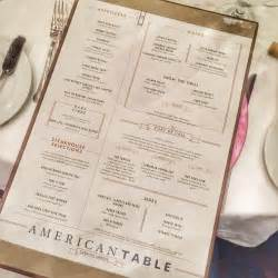 review of the american table menu being rolled out on