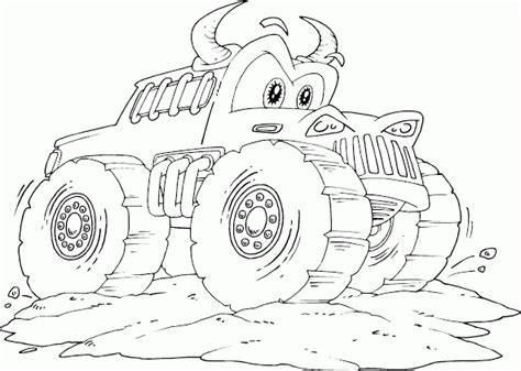 coloring pictures monster trucks bull monster truck coloring page coloring com