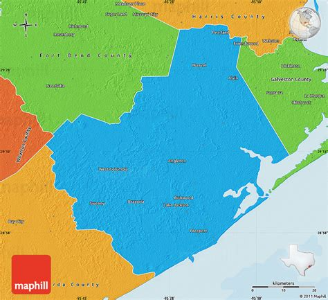Brazoria County Records Political Map Of Brazoria County