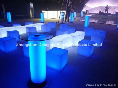 outdoor furniture pe plastic shell lighted led furniture