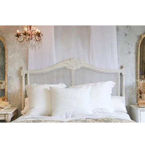country french headboards louis xvi french country natural white painted cane