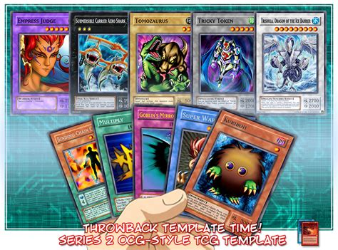 dueling card templates yu gi oh ocg series 2 style tcg mse template by