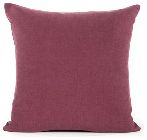 houzz pillows solid wine accent throw pillow cover contemporary
