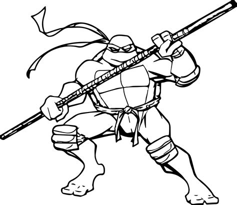 Teenage Mutant Ninja Turtles Memorable Free Ninja Coloring Mutant Turtles Donatello Coloring Pages