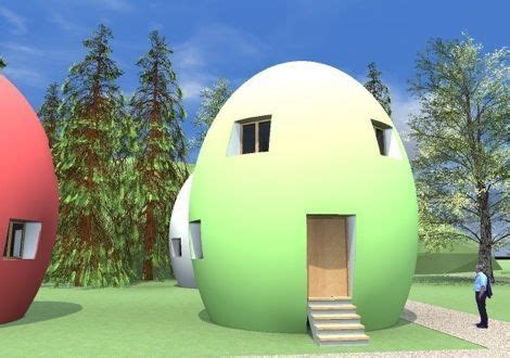 the egg house passive candy quot egg quot houses are 90 recyclable treehugger