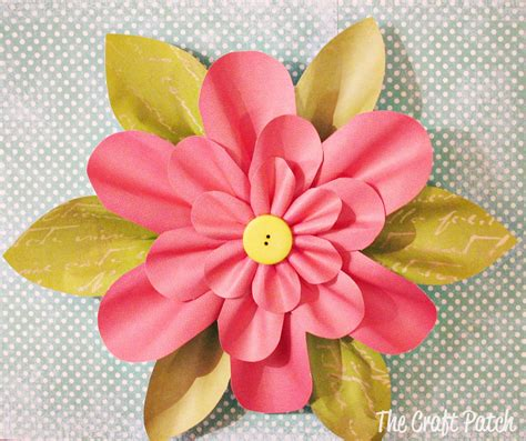 Paper Crafts Flower - the craft patch paper flower tutorial