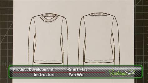 t shirt flat drawing university of fashion