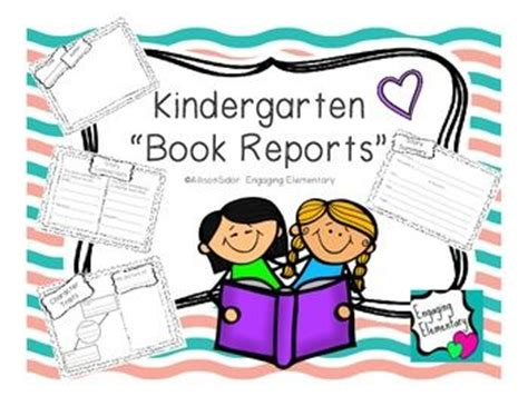 kindergarten book report kindergarten book reports