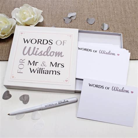 Wedding Words Of by Wedding Guest Words Of Wisdom Notes By Give Ink