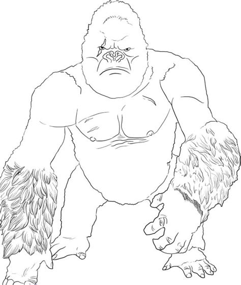 coloring pages king kong az coloring pages