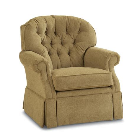 lazy boy swivel chairs traditional swivel rocker with tufted back and kick pleat