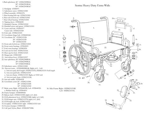 Lifetime Chair Parts Sentra Heavy Duty Wheelchair Drive Medical