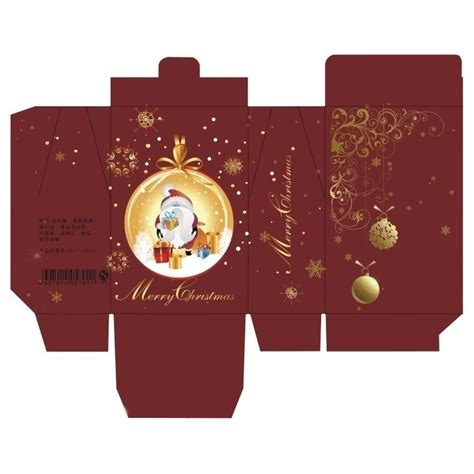 Packaging Decoration Tulisan Merry food box design layout merry gift packaging box paper layout miniature