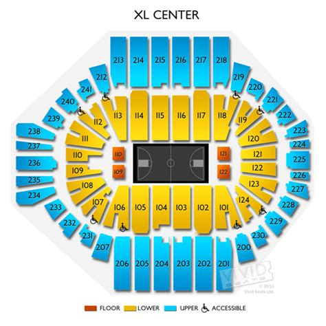 xl center seating chart with seat numbers xl center tickets xl center information xl center