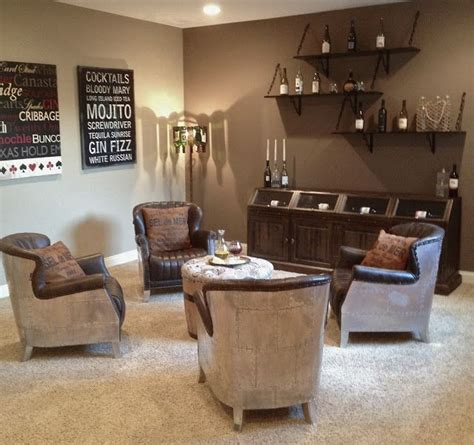 living room wine bar i want four chairs around an ottoman for a wine room but
