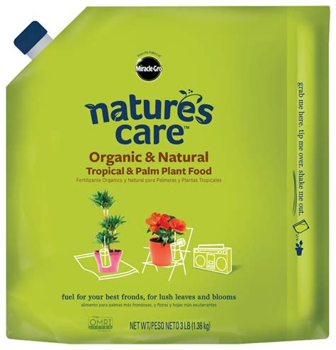 natures care organic  natural tropical palm plant