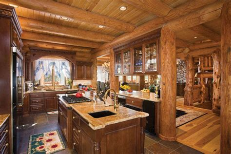 amazing country kitchens 16 amazing log house kitchens you to see hick country