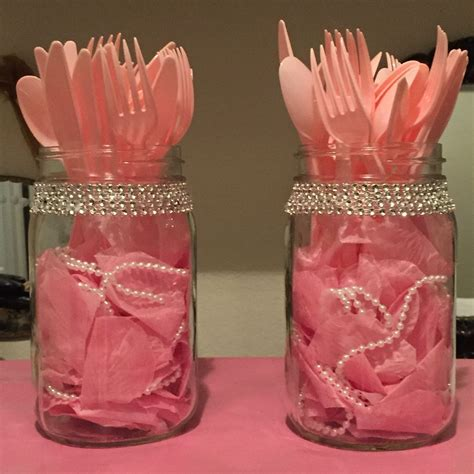 When To Hold A Baby Shower by Beautiful Jars With Flower Petals And Pearls To Hold