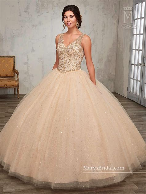 de quinse y sela cojen beaded a line quinceanera dress by mary s bridal princess
