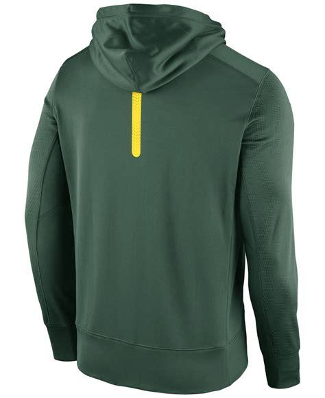 Jaket Sweater Hoodie Oregon Hoodies Home Clothing lyst nike s oregon ducks sideline ko zip hoodie in green for