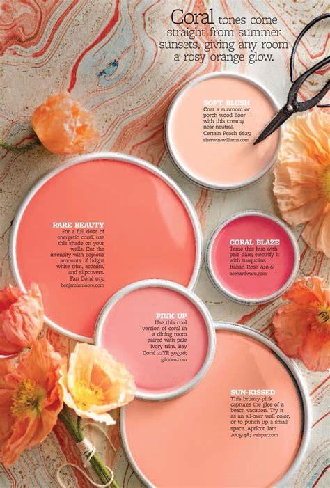 coral paints for my room